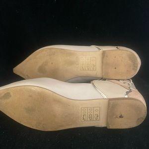 Aldo Shoes - Aldo Cream Lace-Up Pointed Toe Flats (8) 2/$30